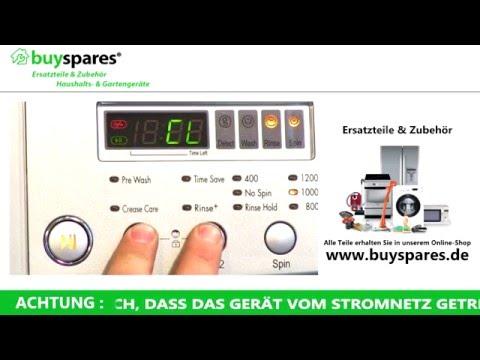 Anleitung: Fehlercodes von LG Waschmaschinen verstehen