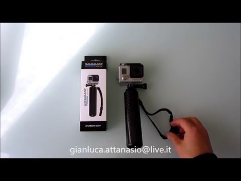 Sanmarc Carbon Grip - Asta Cavalletto galleggiante per GoPro Hero