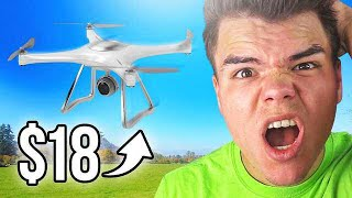 THIS DRONE ONLY COSTED $18?! (Unboxing Advertisements)