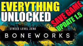UNLOCK EVERYTHING IN BONEWORKS - SAVE GAME