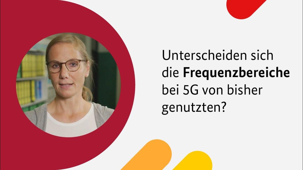 Die aktuell versteigerten Frequenzbereiche für den Mobilfunkstandard 5G weichen nicht viel von den bisher genutzten ab. Erst die in Zukunft geplanten Gigahertz-Frequenzbereiche unterscheiden sich, erklärt Dr. Sarah Drießen, Umweltmedizinerin am Universitätsklinikum Aachen.