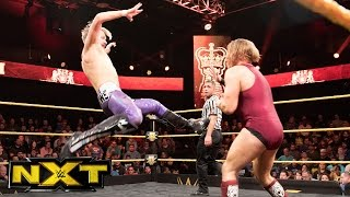 In a WWE United Kingdom Championship Tournament rematch, high-flying Mark Andrews squares off with