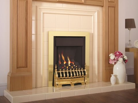 Flavel Windsor Traditional Slimline Inset Brass Gas Fire Plus