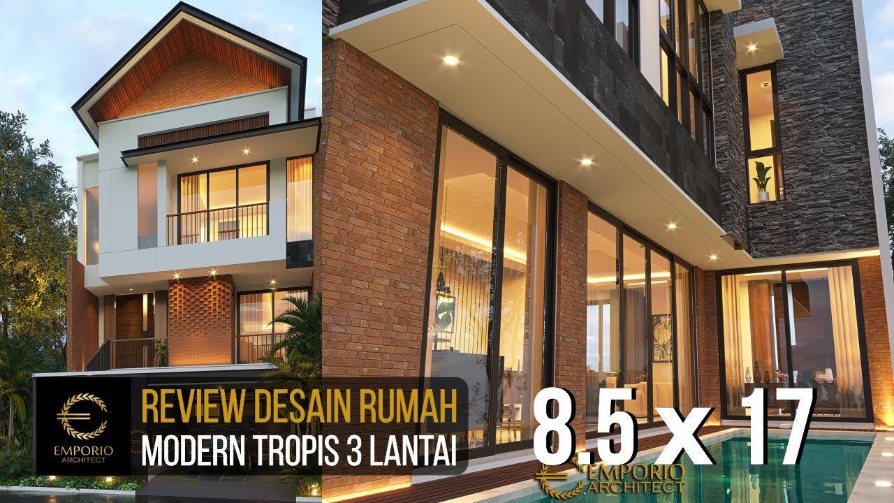 Video 3D Desain Rumah Modern 3 Lantai Ibu Anita - Jakarta Selatan