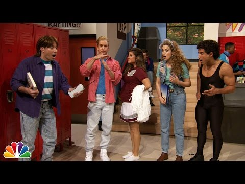 """Jimmy Fallon Went to Bayside High with """"Saved By The Bell"""" Cast (видео)"""