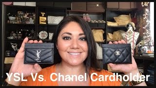 Saint Laurent Vs. Chanel Cardholder Comparison
