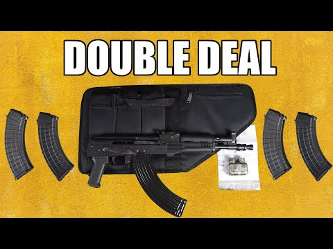 Polish Hellpup AK-47 Pistol 7.62x39 W /Free Shooters Package Featuring 4-30 Rd Mags, 1-40 Rd Mag and Tactical Case- Limited Time Offer $499.99