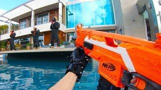 Nerf War: HUGE Mansion Battle
