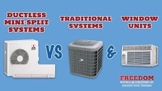 Ductless Mini-split Systems Vs Traditional Systems And Window Units