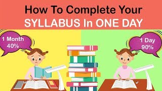 HOW TO COMPLETE THE ENTIRE SYLLABUS IN ONE DAY #Studyhack #Abetterlife
