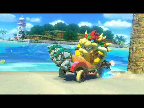 Mario Kart 8 - Massive car-sized turtle terrorized by small sentient mushroom