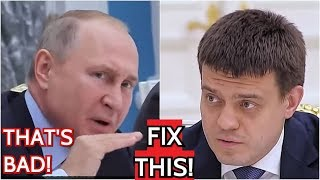 Upset Putin Scolds Russian Minister: You Didn't Answer My Question And You Don't Have An Opinion!
