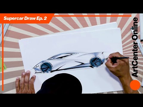 ArtCenter Online   How to Draw A Supercar   Sketch Tutorial Part 2