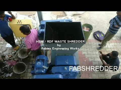 Municipal Solid Waste Shredder