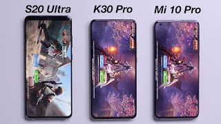 Xiaomi Redmi K30 Pro vs Xiaomi Mi 10 Pro 5G vs Samsung Galaxy S20 Ultra - SPEED TEST