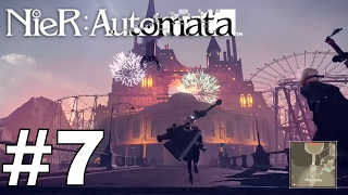 Nier: Automata - Part 7 - Side Quests and Amusement Park Gameplay Walkthrough with No Commentary