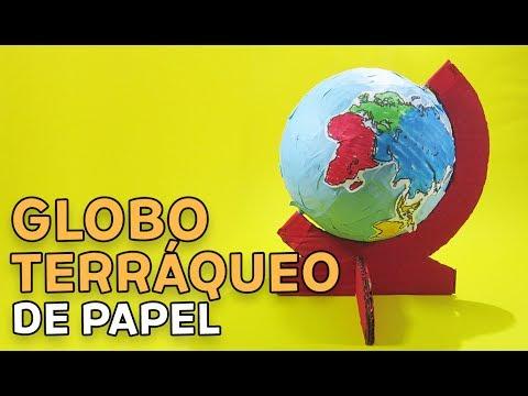 CÓMO HACER UN GLOBO TERRÁQUEO DE PAPEL (MAQUETA)... ¡Y NO MORIR EN EL INTENTO!