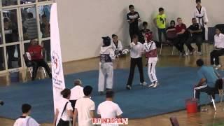 49kg Damla Sal vs Zehra Tanisma (Turkish Junior TKD Championships 2015)