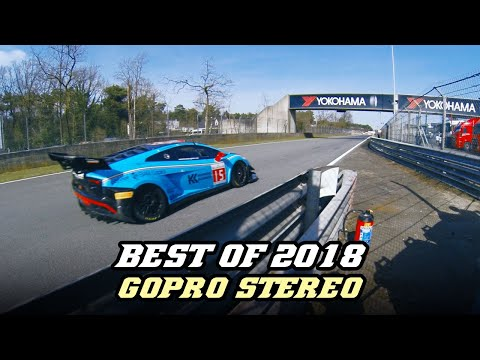 Best of 2018 - GoPro 3D stereo motorsport sounds (F1, Rally, GT, LMP)