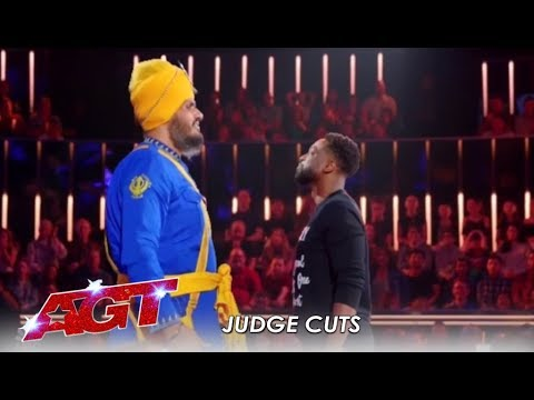 Bir Khalsa: Indian Danger Act Nearly KILL Each Other On Stage! | America's Got Talent 2019 (видео)