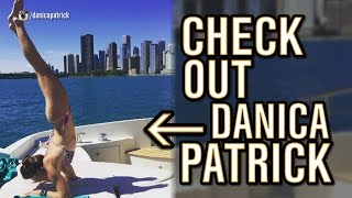 Danica Patrick did Yoga on a Boat