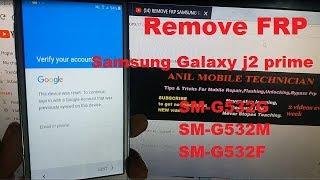 samsung j2 prime g532g frp reset google account remove - Thủ