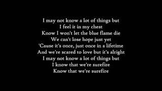 John Legend - Surefire - Lyrics