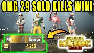 OMG 😱 29 Solo Kills in 1 Game | 30 kills challenge in PUBG MOBILE | DUO vs SQUAD Rush Gameplay