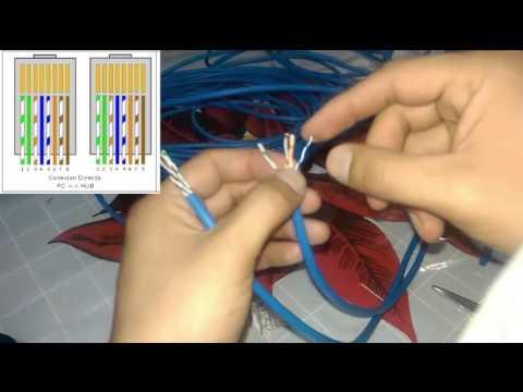 Como ponchar un cable UTP | Hacer cable de red paso a paso