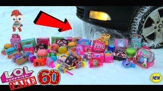EXPERIMENT: CAR VS 60 LOL SURPRISE FAKE LOL Dolls