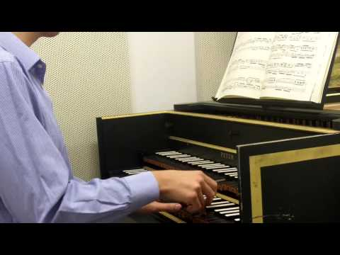 Claudio performs Bach at the Harpsichord