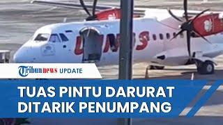 Pesawat Wings Air Rute Lombok-Bima Putar Balik, Diduga Tuas Pintu Darurat Dibuka Penumpang