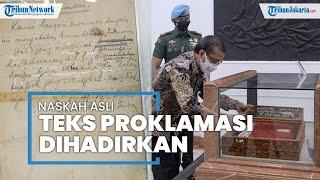 Naskah Asli Teks Proklamasi yang Ditulis Tangan oleh Soekarno Kembali Dihadirkan di Istana Merdeka