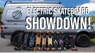 Electric Skateboard SHOWDOWN!   Drag Race Testing