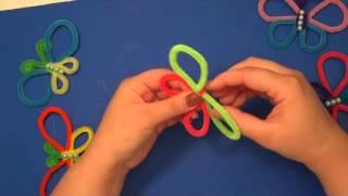 Pipe Cleaner Butterflies : Easy Kids Craft
