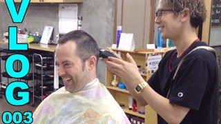 Japanese Shave & Haircut - The Native Life Vlog 3 - EnglishAnyone.com
