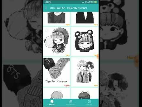 Bts Pixel Art раскраска по номеру на андроид скачать Bts