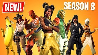 Fortnite Season 8 Gameplay! New Season 8 Battle Pass, New Map & New Skins! (Fortnite Battle Royale)