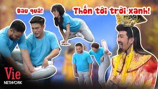 Xoạc chân: Diệu Nhi làm không nổi, Dương Lâm xém rách quần NHƯNG best nhất là Ngô Kiến Huy =))))