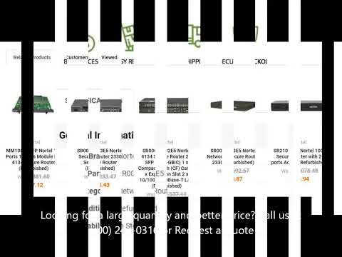 SR0002E03E5 Nortel 2330 10/100Base-T 2-Ports Gigabit SFP Ports Secure Router with 4x Slots