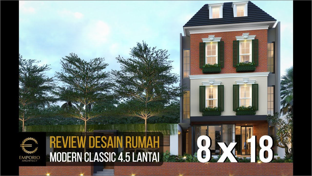 Video 3D Mrs. Santi Modern Classic House 4.5 Floors Design - Jakarta Selatan