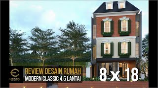 Video Desain Rumah Modern Classic 4.5 Lantai Ibu Santi di  Jakarta Selatan