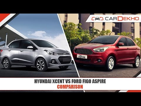 Ford Figo Aspire VS Hyundai Xcent | Comparison Video | CarDekho.com