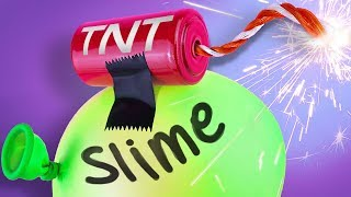Making SLIME with BOMBS 💦 *NOT CLICKBAIT*