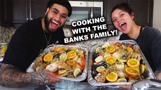 HOW TO MAKE CRAB BOIL    COOKING WITH THE BANKS FAMILY