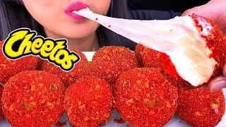 ASMR Hot Cheetos MOZZARELLA CHEESE BALLS & BOBA TEA (ASMR Eating Show) *NO TALKING* | ASMR Phan