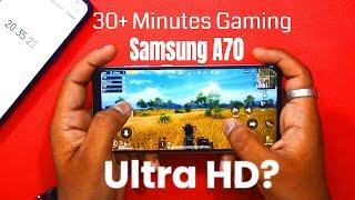 Samsung Galaxy A70 Pubg Test: 30 Minutes तक PUBG खेला? Ultra HD Mode चलेगा?