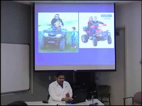 Injuries caused by accidents on off-road vehicles (ATV's)