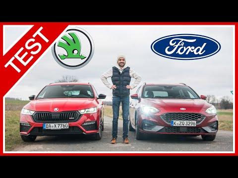 Ford Focus ST Turnier vs. Skoda Octavia RS Combi: Beide GLEICH SPORTLICH? Sound, Ausstattung, Preis