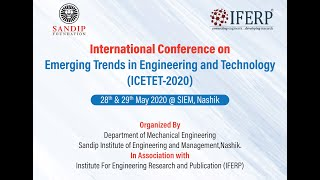 International Conference on Emerging Trends in Engineering & Technology – Part 1 | IFERP